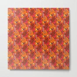 Groovy Flowers Metal Print