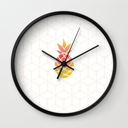 Pineapple Geometric Art Wall Clock