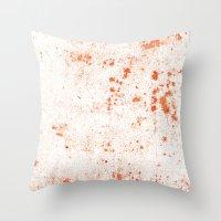 splatter Throw Pillows featuring Splatter by Kit4na