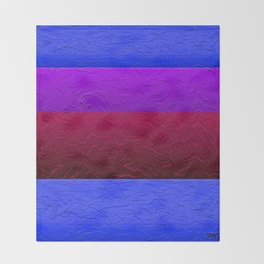 Blue Purple and Burgundy Passion Throw Blanket