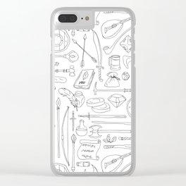 Fantasy Adventuring Equipment Clear iPhone Case