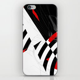 black and white meets red Version 8 iPhone Skin