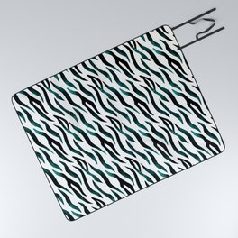 Here Kitty Kitty - Teal Picnic Blanket