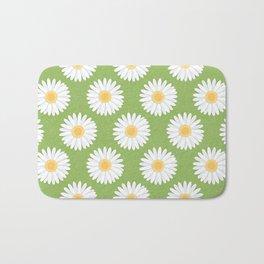 Spring Daisies_Greenery Bath Mat