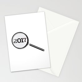 2017 Magnifying Glass Stationery Cards