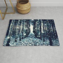 Magical Forest Teal Gray Elegance Rug