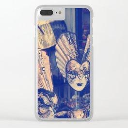 venetian mask Clear iPhone Case