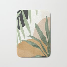 Abstract Art Tropical Leaves 4 Bath Mat