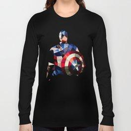 Polygon Heroes - Captain America Long Sleeve T-shirt
