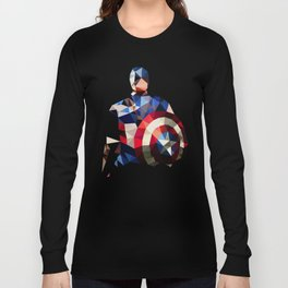 Polygon Heroes - Captain America Long Sleeve T-shirt