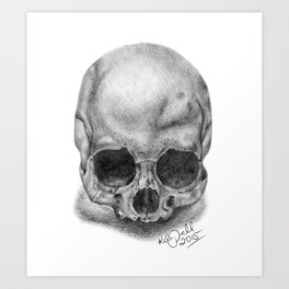 Shadow Skull Art Print
