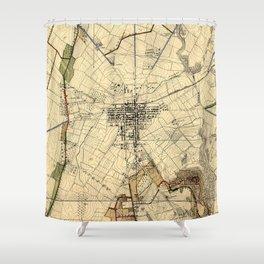 Vintage Gettysburg Battlefield Map (1898) Shower Curtain