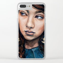 Moon Light Clear iPhone Case