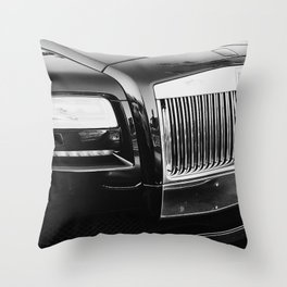 Rolls Grille // Black Luxury Car Close Up Photography Expensive Ultra Wealthy Autos Throw Pillow