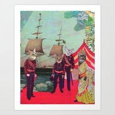 Captain Cosy's Birthday Regatta Art Print
