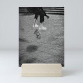 Jumping with Skateboard on the Street, D Mini Art Print