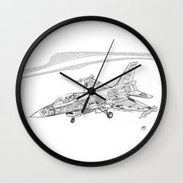 F16 Cutaway Freehand Sketch Wall Clock