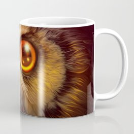 Amazing Starry Big Eyed Fantasy Owl Head Close Up Ultra HD Coffee Mug