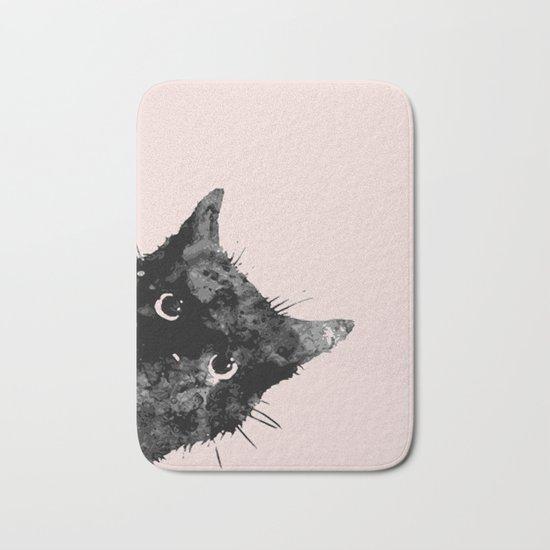 Black cat not a bad sign Bath Mat