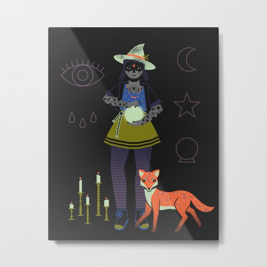 Witch Series: Crystal Ball Metal Print