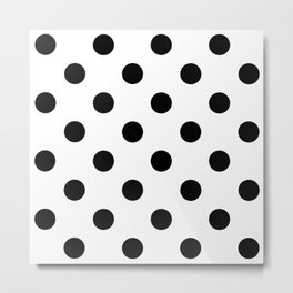 Polkadot (Black & White Pattern) Metal Print