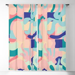 Summer Vibes Pattern Blackout Curtain