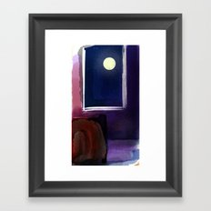 I Can't Sleep When You Are Not Here The Moon Framed Art Print