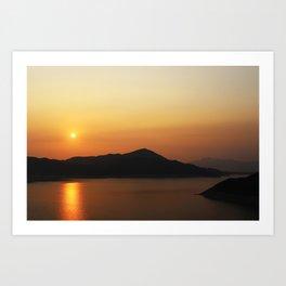 High Island Reservoir Art Print