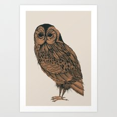 Heaton Owl Art Print