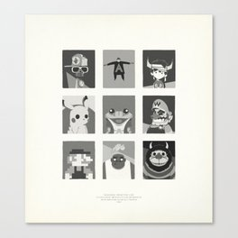 Super Mercredi Bros Heroes (8/8) Canvas Print