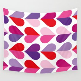 Love and Kisses in Ultra Violet Wall Tapestry