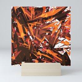 red & spiky Mini Art Print