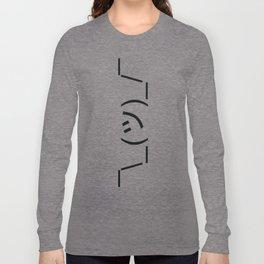 Shrugs Emoticon ¯\_(ツ)_/¯ Long Sleeve T-shirt
