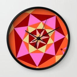 Geometric Flower Digital Illustration Wall Clock