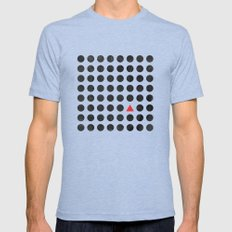 Minimalism 2 Tri-Blue Mens Fitted Tee LARGE