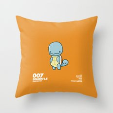 007 Squirtle Throw Pillow