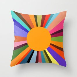 technicolor dream 003 Throw Pillow