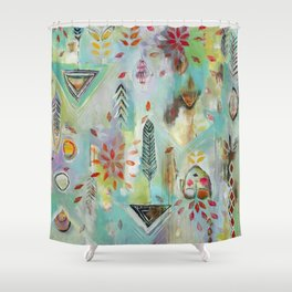 """Liminal Rights"" Original Painting by Flora Bowley Shower Curtain"