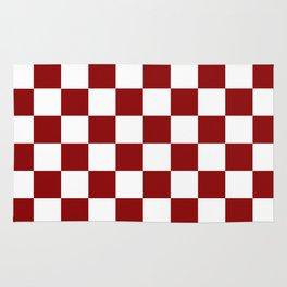 Red White Checker Rug