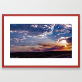 Idaho Sunset Framed Art Print