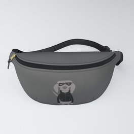 Weiminator Grey Ghost Weimaraner Dog Hand-painted Pet Drawing Fanny Pack