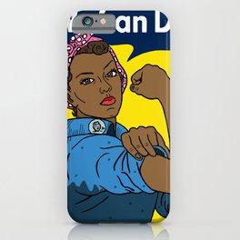 Black Rosie the Riveter iPhone Case