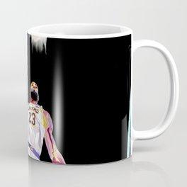 LeBron // King James Lebron basketball player, sports-star, and baller dunking on a basketball goal Coffee Mug