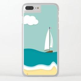 Cote d'Azur Clear iPhone Case