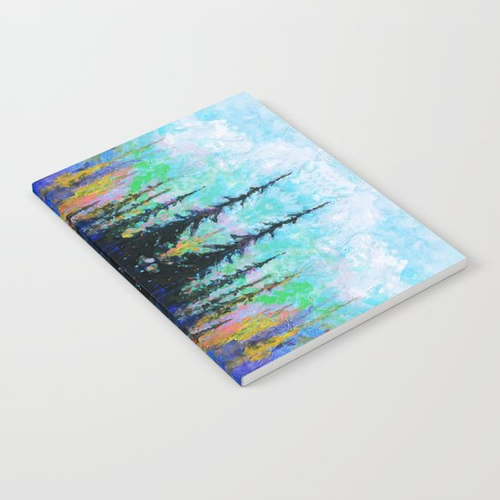 Blue Spruce Island Abstract Art Notebook
