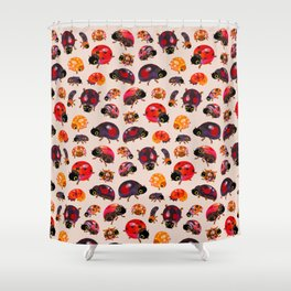 Lady beetles Shower Curtain