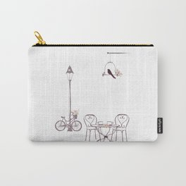 Sidewalk Cafe Carry-All Pouch