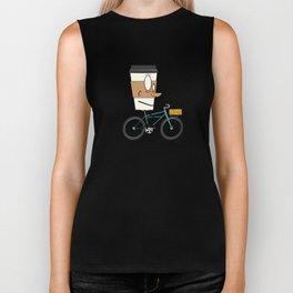 Coffee Cup Biking Biker Tank