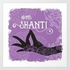 Om Shanti Art Print