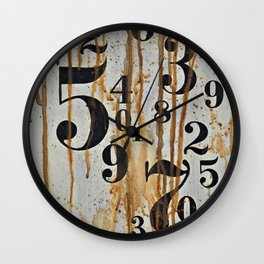 Numeric Values: Crude Figures Wall Clock